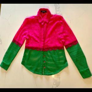 AMENPAPA - magenta + green lace/mesh combo…